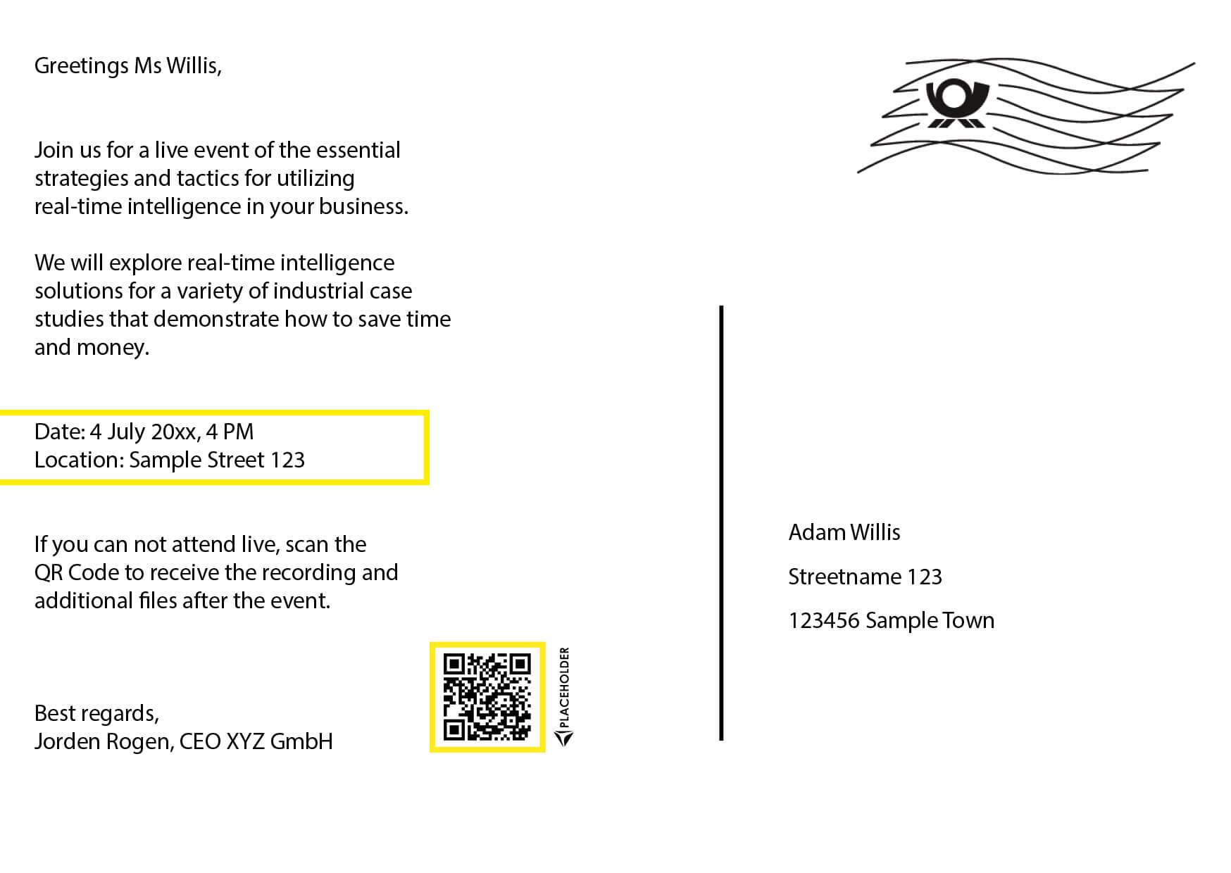 Sample cards Partner Lufthansa back