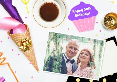 Write a greeting card for a 50th birthday