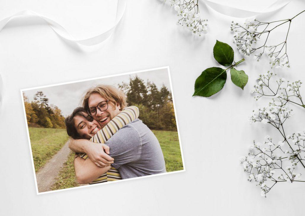 Thank you card - danke sagen mit persönlicher Foto Postkarte