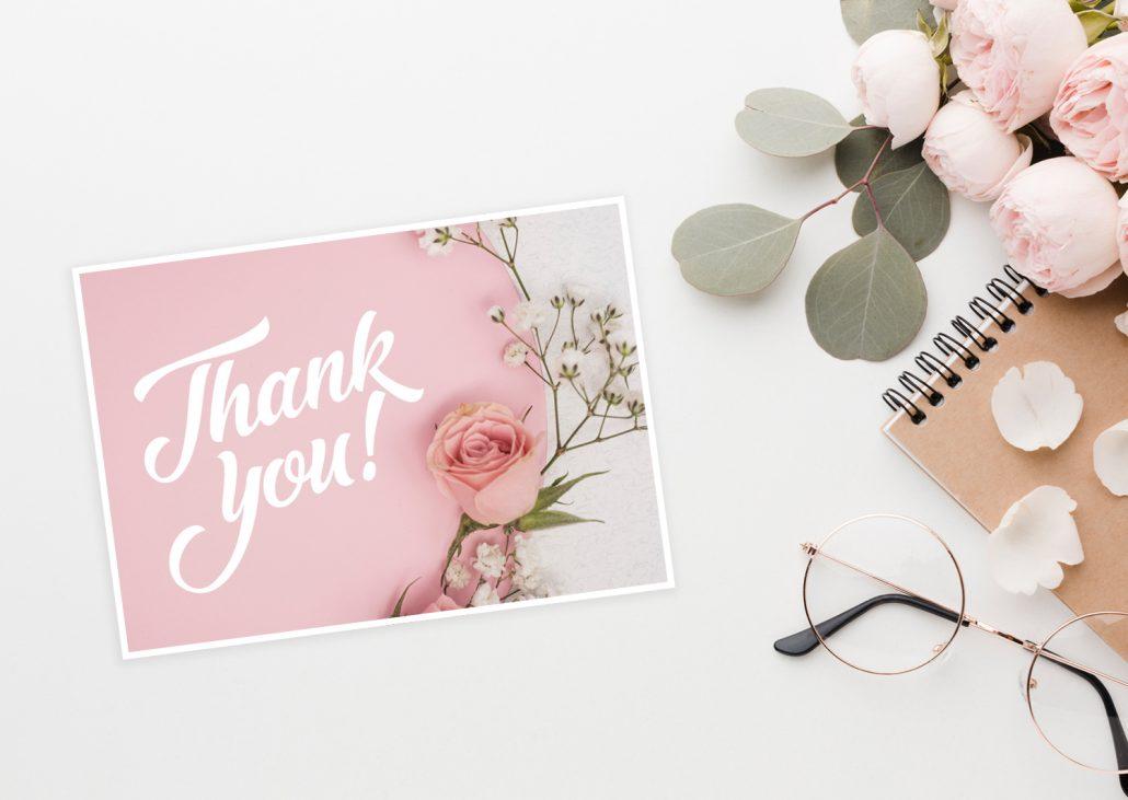 Thank-You-Card - danke sagen mit Blumen