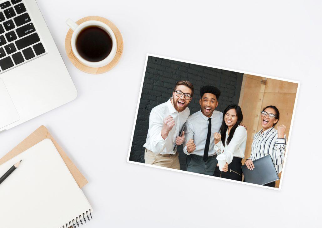 business fotos als offline marketing Kampagne