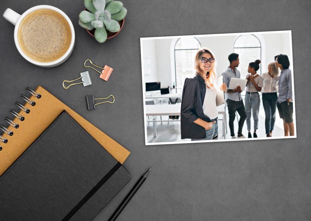 business fotos als postkarte